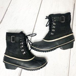 Sorel Winter Fancy Lace II Black, Suede Boots